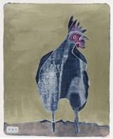 Dark Rooster 2 Fine Art Print