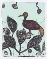 Puzzled Red Bird 17 Fine Art Print