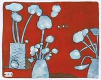 3 Blue Bouquets 9 Fine Art Print