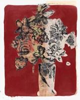 Bouquet Red Background Fine Art Print