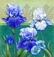 Blue Flowers Fine Art Print