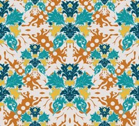Teal & Orange (Pattern) Fine Art Print