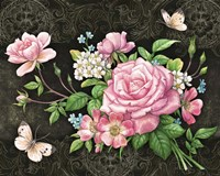 Roses And Butterflies Fine Art Print