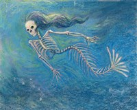 Skelly Mermaid Fine Art Print