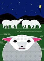 Vertical Christmas Sheep Fine Art Print