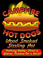 Campfire Hot Dogs Fine Art Print
