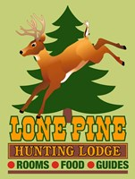Lone Pine Hunting Lodge Fine Art Print