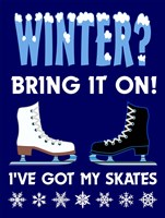 Winter Bring It Skates Fine Art Print