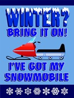 Winter Bring It Snowmobile Fine Art Print