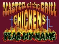 Master Grill Chicken Fear Fine Art Print