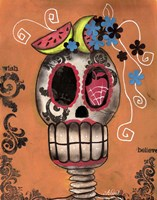 Day Of The Dead Watermelon Fine Art Print