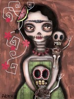 Frida Day Of The Dead Fine Art Print