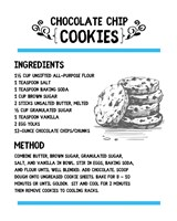 Chocolate Chip Cookies Recipe White Background Fine Art Print