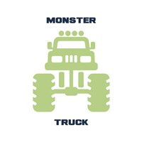 Monster Truck Graphic Green Part II Fine Art Print