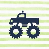 Monster Truck Graphic Green Part III Fine Art Print