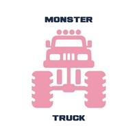 Monster Truck Graphic Pink Part II Fine Art Print