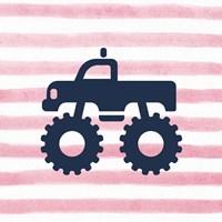 Monster Truck Graphic Pink Part III Fine Art Print