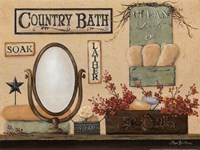 Country Bath - Soak, Lather Fine Art Print