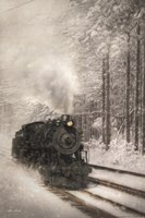 Snowy Locomotive Fine Art Print