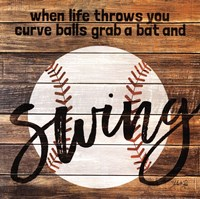 Grab a Bat and Swing Fine Art Print