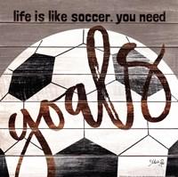 Soccer Goals Fine Art Print