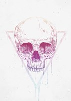 Skull In Triangle Fine Art Print