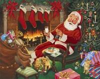 Santa's Break Fine Art Print