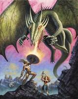 Attack of the Fire Drake Fine Art Print