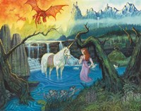 The Princess and Her Unicorn Fine Art Print