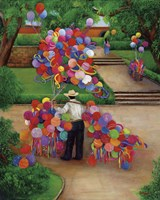 Balloons In The Park Fine Art Print