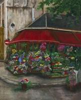 Florist On The Rive Gauche Fine Art Print