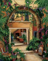 Hacienda Courtyard Fine Art Print