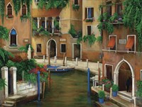 Hotel On The Canal Fine Art Print
