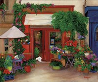 Red Flower Shop Fine Art Print