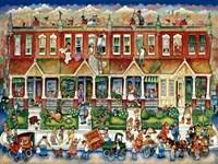 Row Houses Fine Art Print