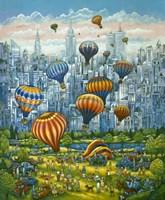 Central Park Balloons Fine Art Print