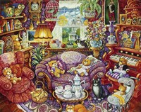 Teatime For Teddy Fine Art Print
