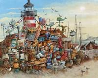 Lighthouse Antiques Fine Art Print