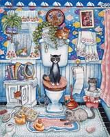 Bathroom Cats Fine Art Print
