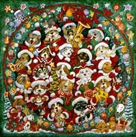 Santa Paws Christmas Fine Art Print