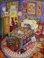 More Bedroom Cats Fine Art Print
