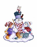 Winter Cats Fine Art Print