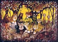 Noah - Lions-Tigers-Bears Fine Art Print