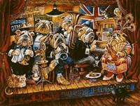 Bull Dog Blues Band Fine Art Print