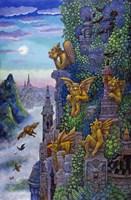 Gargoyle's Twilight Fine Art Print