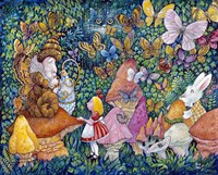 Alice And The Caterpiller Fine Art Print