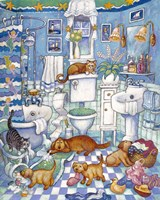 Bathroom Pups Fine Art Print