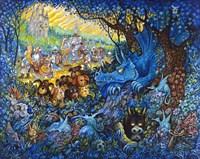 In Search Of The Blue Dragon Fine Art Print