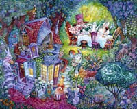 Alice And The Hatter Fine Art Print