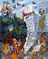 Alice And Humpty Dumpty Fine Art Print